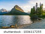 beautiful landscape at... | Shutterstock . vector #1036117255