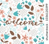 welcome brush calligraphy with... | Shutterstock .eps vector #1036120399