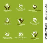 homeopathy creative symbols...   Shutterstock .eps vector #1036120651