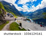 geiranger  norway   july 30 ... | Shutterstock . vector #1036124161