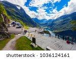 geiranger  norway   july 30 ... | Shutterstock . vector #1036124161