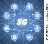 5g   5th generation wireless... | Shutterstock .eps vector #1036125091