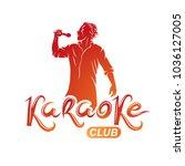 man sings karaoke  karaoke club ...   Shutterstock .eps vector #1036127005