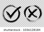 symbolic ok and x icons in... | Shutterstock .eps vector #1036128184
