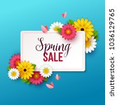 spring sale background with... | Shutterstock .eps vector #1036129765