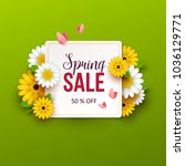 spring sale background with... | Shutterstock .eps vector #1036129771