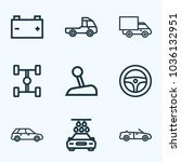 automobile icons line style set ...   Shutterstock .eps vector #1036132951