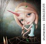 fantasy surreal conceptual... | Shutterstock . vector #1036133155