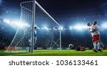 soccer game moment  on... | Shutterstock . vector #1036133461
