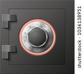image of a steel safe. armored... | Shutterstock .eps vector #1036138951