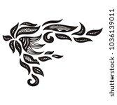 nature pattern. vector... | Shutterstock .eps vector #1036139011