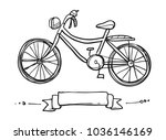 old bicycle sketch | Shutterstock .eps vector #1036146169