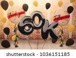 60k or 60 000 followers thank...   Shutterstock . vector #1036151185