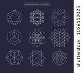 sacred geometry vector design... | Shutterstock .eps vector #1036152025