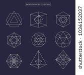 sacred geometry vector design... | Shutterstock .eps vector #1036152037