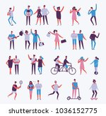 vector illustration in a flat... | Shutterstock .eps vector #1036152775