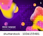 graphic illustration with... | Shutterstock .eps vector #1036155481