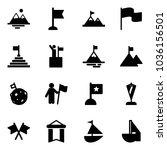 solid vector icon set  ... | Shutterstock .eps vector #1036156501