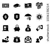 solid vector icon set   dollar... | Shutterstock .eps vector #1036158214