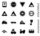 solid vector icon set   parking ... | Shutterstock .eps vector #1036158361