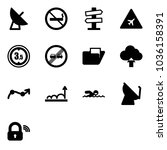 solid vector icon set  ... | Shutterstock .eps vector #1036158391