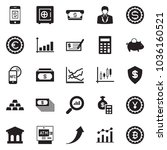 solid black vector icon set  ... | Shutterstock .eps vector #1036160521
