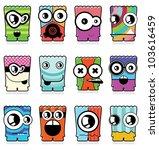 set of twelve monsters | Shutterstock .eps vector #103616459