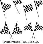 race flag various designs ... | Shutterstock .eps vector #1036165627