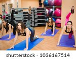 people at the health club with... | Shutterstock . vector #1036167514