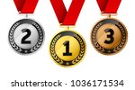 champions gold  silver and... | Shutterstock .eps vector #1036171534