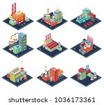 factories with industrial... | Shutterstock .eps vector #1036173361