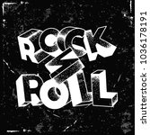 rock n roll typography for  t... | Shutterstock .eps vector #1036178191