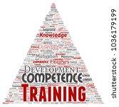 vector conceptual training ... | Shutterstock .eps vector #1036179199