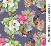 watercolor hand drawn seamless...   Shutterstock . vector #1036180519