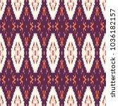 ikat seamless pattern.... | Shutterstock . vector #1036182157