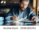 man at the table  business ...   Shutterstock . vector #1036182241