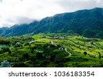 beautiful scenery of green... | Shutterstock . vector #1036183354
