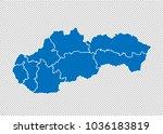slovakia map   high detailed... | Shutterstock .eps vector #1036183819