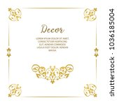 vector decorative frame.... | Shutterstock .eps vector #1036185004