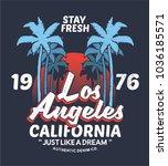 summer style tee print vector... | Shutterstock .eps vector #1036185571