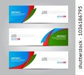 azerbaijan flag ribbon banner... | Shutterstock .eps vector #1036186795