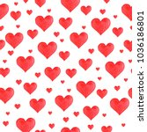 red hearts. seamless pattern. | Shutterstock . vector #1036186801