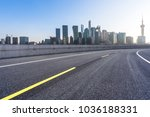 empty road with modern office... | Shutterstock . vector #1036188331