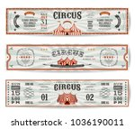 vintage circus website banners... | Shutterstock .eps vector #1036190011