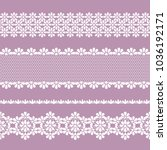 vector seamless lace braid ... | Shutterstock .eps vector #1036192171