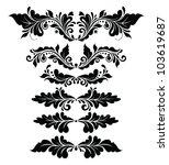 vintage floral headers | Shutterstock .eps vector #103619687