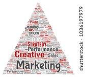 conceptual development business ...   Shutterstock . vector #1036197979