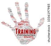 conceptual training  coaching... | Shutterstock . vector #1036197985