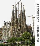 barcelona  spain   july 29 ...   Shutterstock . vector #1036202395