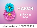 8 march. happy womens day... | Shutterstock .eps vector #1036202419